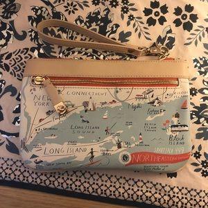 Spartina New England Map Clutch/Wristlet